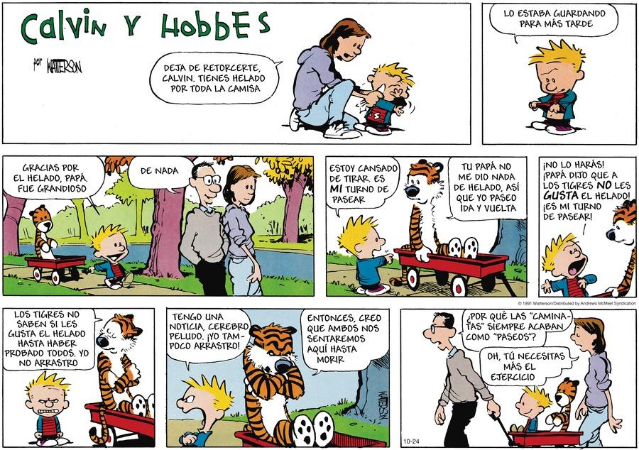 Calvin and Hobbes en Español by Bill Watterson on Sun, 24 Oct 2021