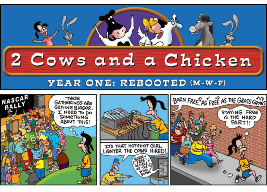 2 Cows and a Chicken for Nov 19, 2012 Comic Strip