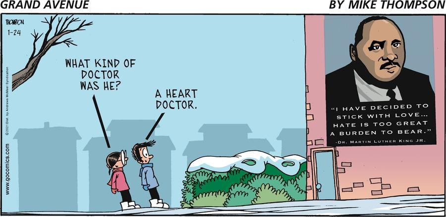 Grand Avenue Comic Strip for January 24, 2021