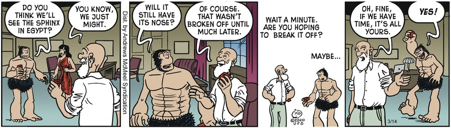 Alley Oop Comic Strip for March 14, 2020