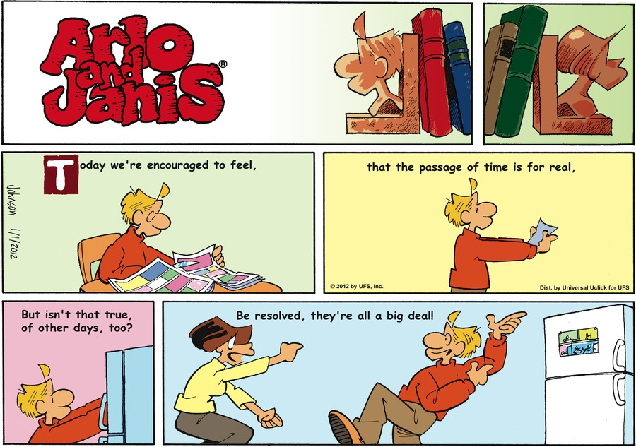 Arlo and Janis Comic Strip for January 01, 2012