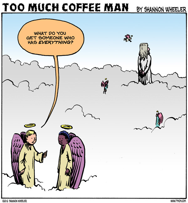 Too Much Coffee Man for Dec 19, 2012 Comic Strip