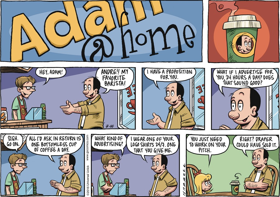 Adam@Home for Jul 10, 2016 Comic Strip