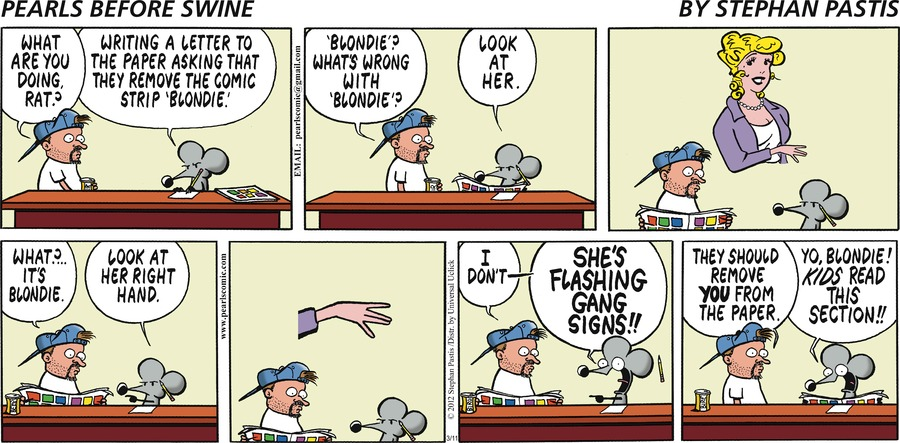 Pearls Before Swine Comic Strip for March 11, 2012