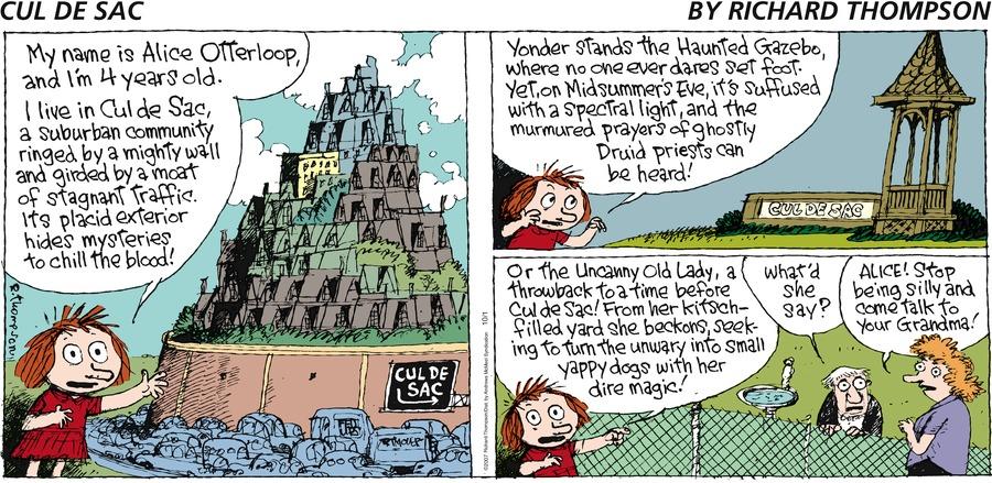 Cul de Sac for Oct 1, 2017 Comic Strip
