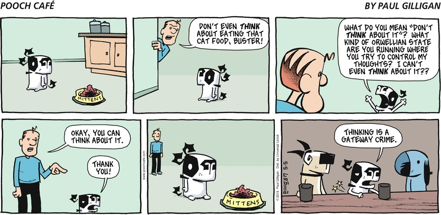 Pooch Cafe Comic Strip for May 05, 2013