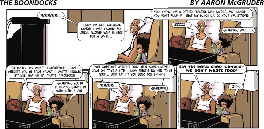 The Boondocks Comic Strip for January 24, 2021