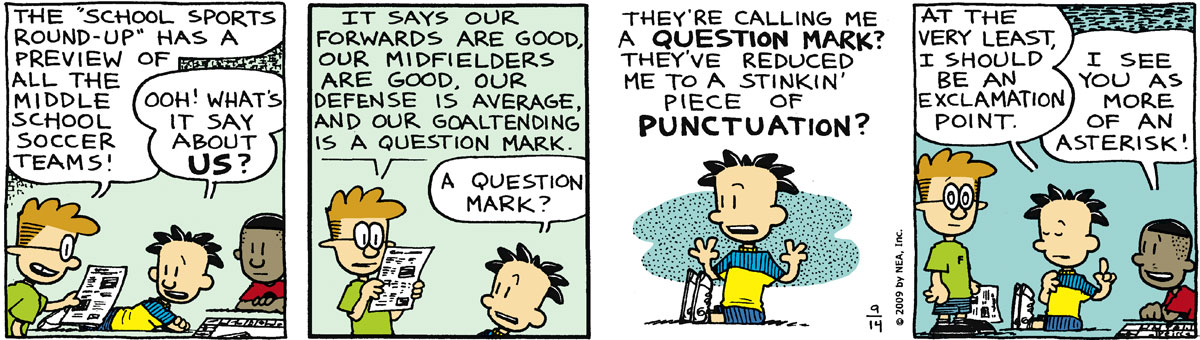 Big Nate for Sep 14, 2009 Comic Strip