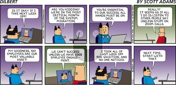 Dilbert - Sunday April 4, 2021 Comic Strip