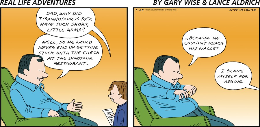 Real Life Adventures Comic Strip for January 25, 2015