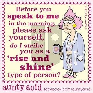 Aunty Acid on Tuesday November 5, 2019 Comic Strip