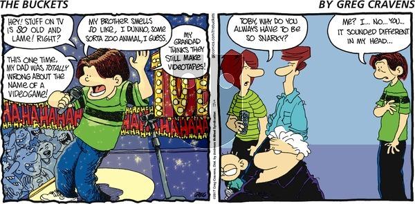 The Buckets on Sunday September 17, 2017 Comic Strip