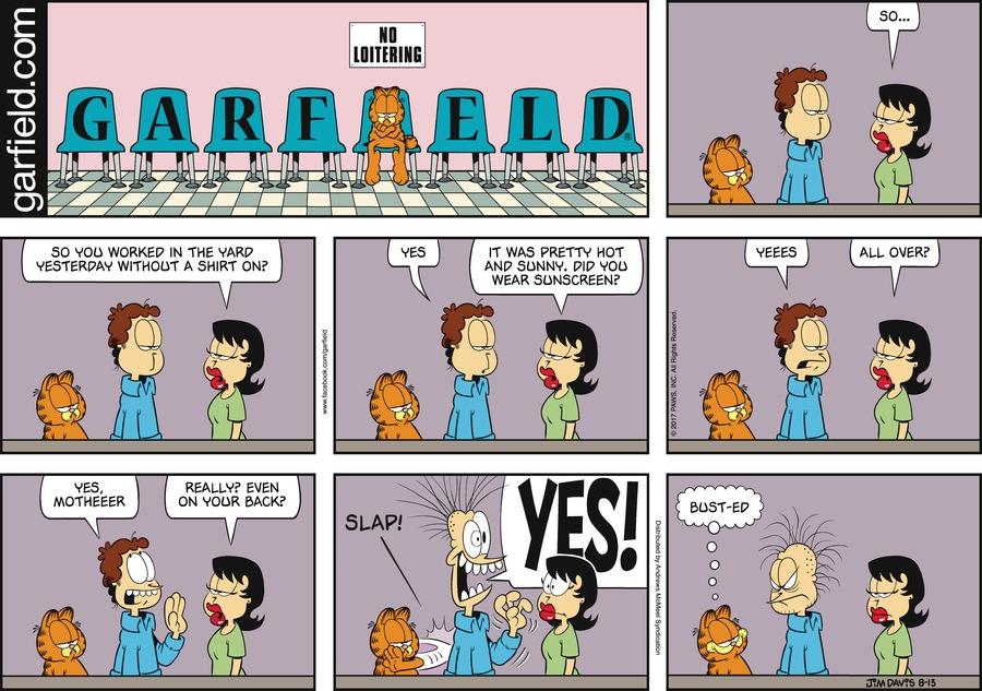 Garfield for Aug 13, 2017 Comic Strip