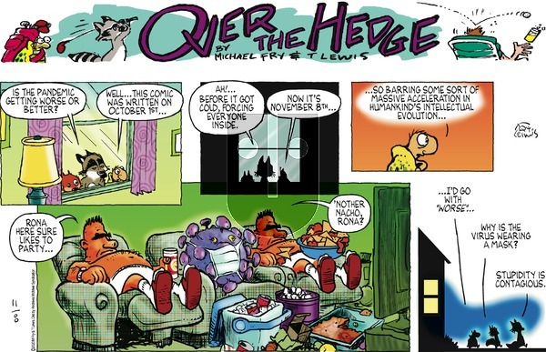 Over the Hedge - Sunday November 8, 2020 Comic Strip