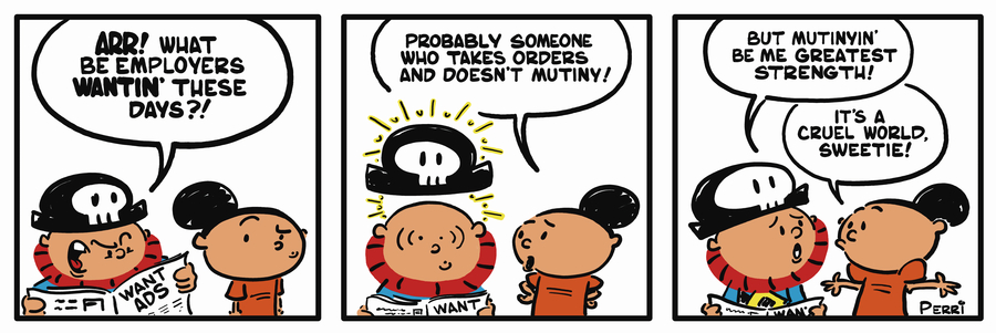 Pirate Mike Comic Strip for February 18, 2019
