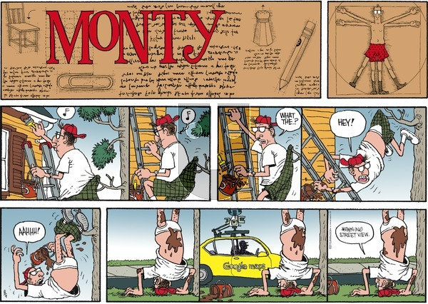 Monty on Sunday August 9, 2015 Comic Strip