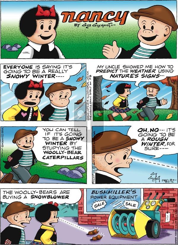 Nancy on Sunday December 30, 2012 Comic Strip