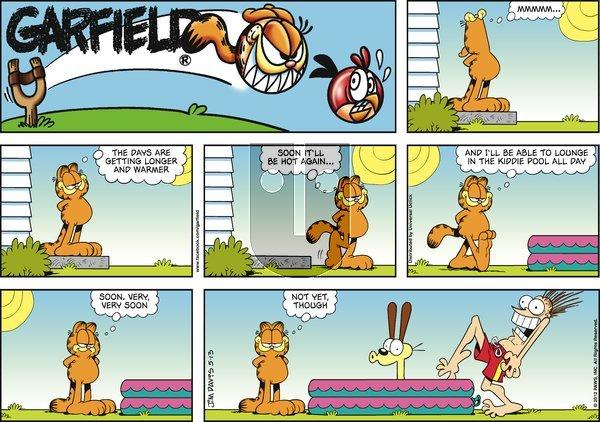 Garfield - Sunday May 13, 2012 Comic Strip