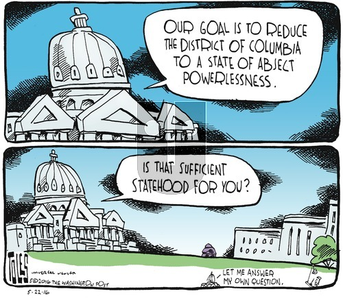Tom Toles on Sunday May 22, 2016 Comic Strip