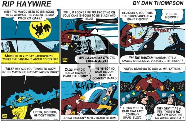 Rip Haywire on Sunday February 7, 2021 Comic Strip