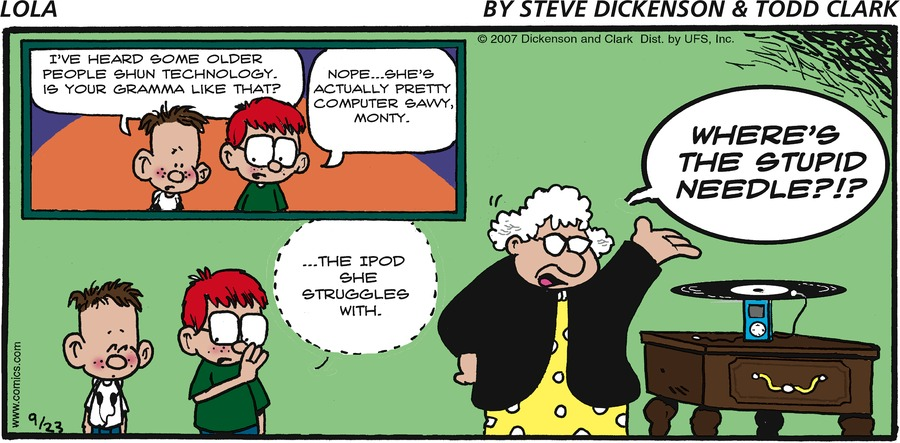Lola for Sep 23, 2007 Comic Strip
