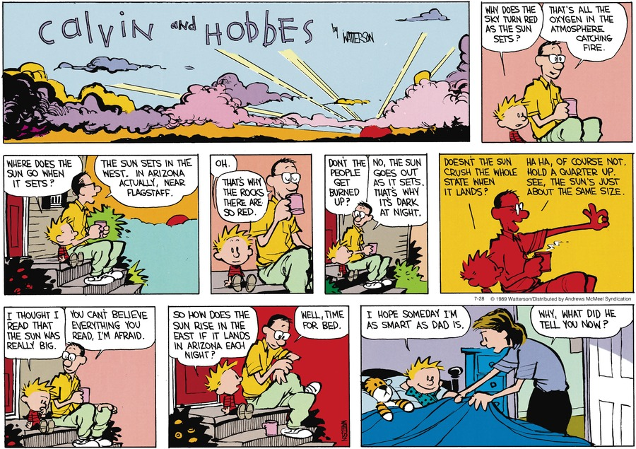 Calvin and Hobbes by Bill Watterson for July 28, 2019