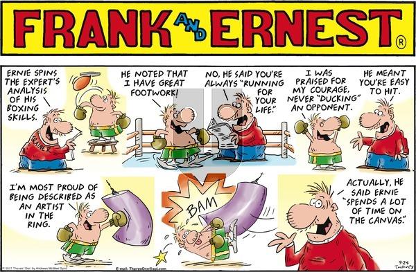 Frank and Ernest on September 24, 2017 Comic Strip