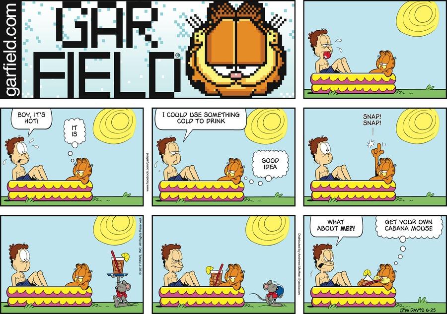 Garfield Comic Strip for June 25, 2017