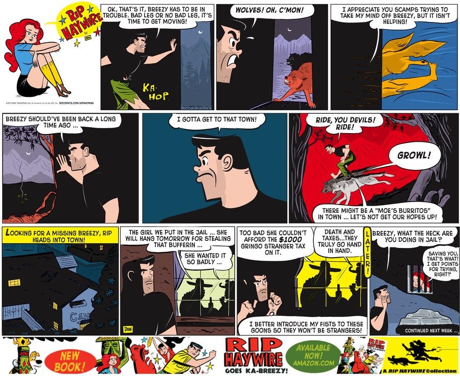 Rip Haywire Comic Strip for May 17, 2015