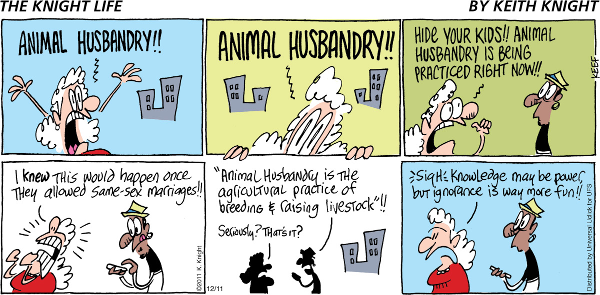The Knight Life Comic Strip for December 11, 2011