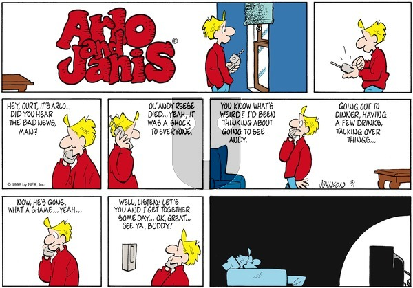 Arlo and Janis on Sunday March 1, 1998 Comic Strip