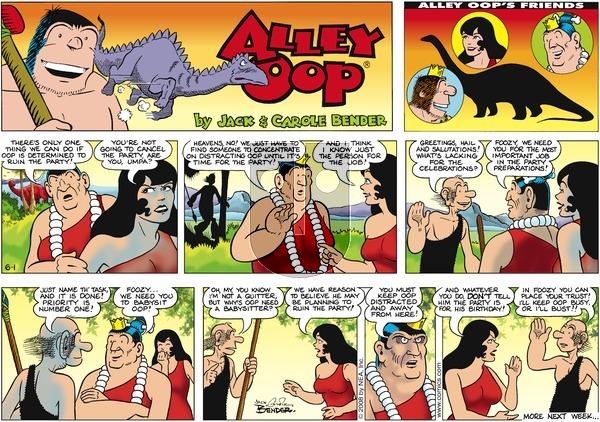 Alley Oop on Sunday June 1, 2008 Comic Strip