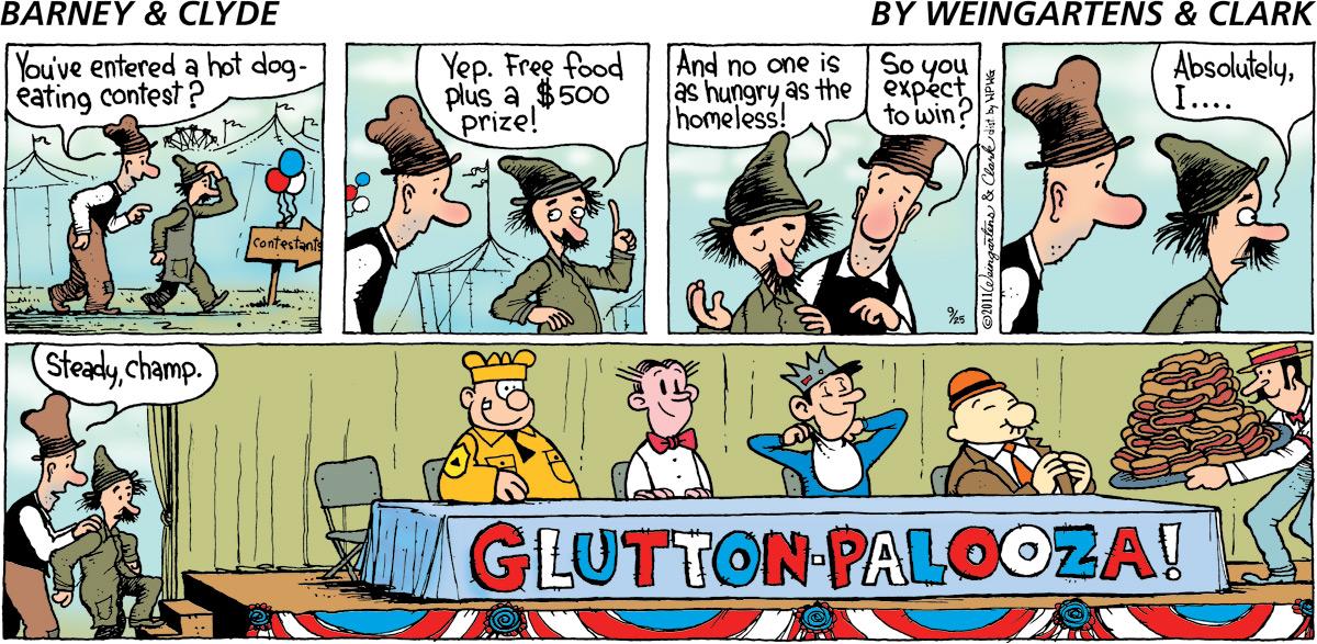Barney & Clyde Comic Strip for September 25, 2011