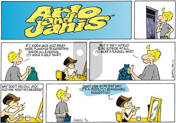 Arlo and Janis on Sunday March 21, 1999 Comic Strip