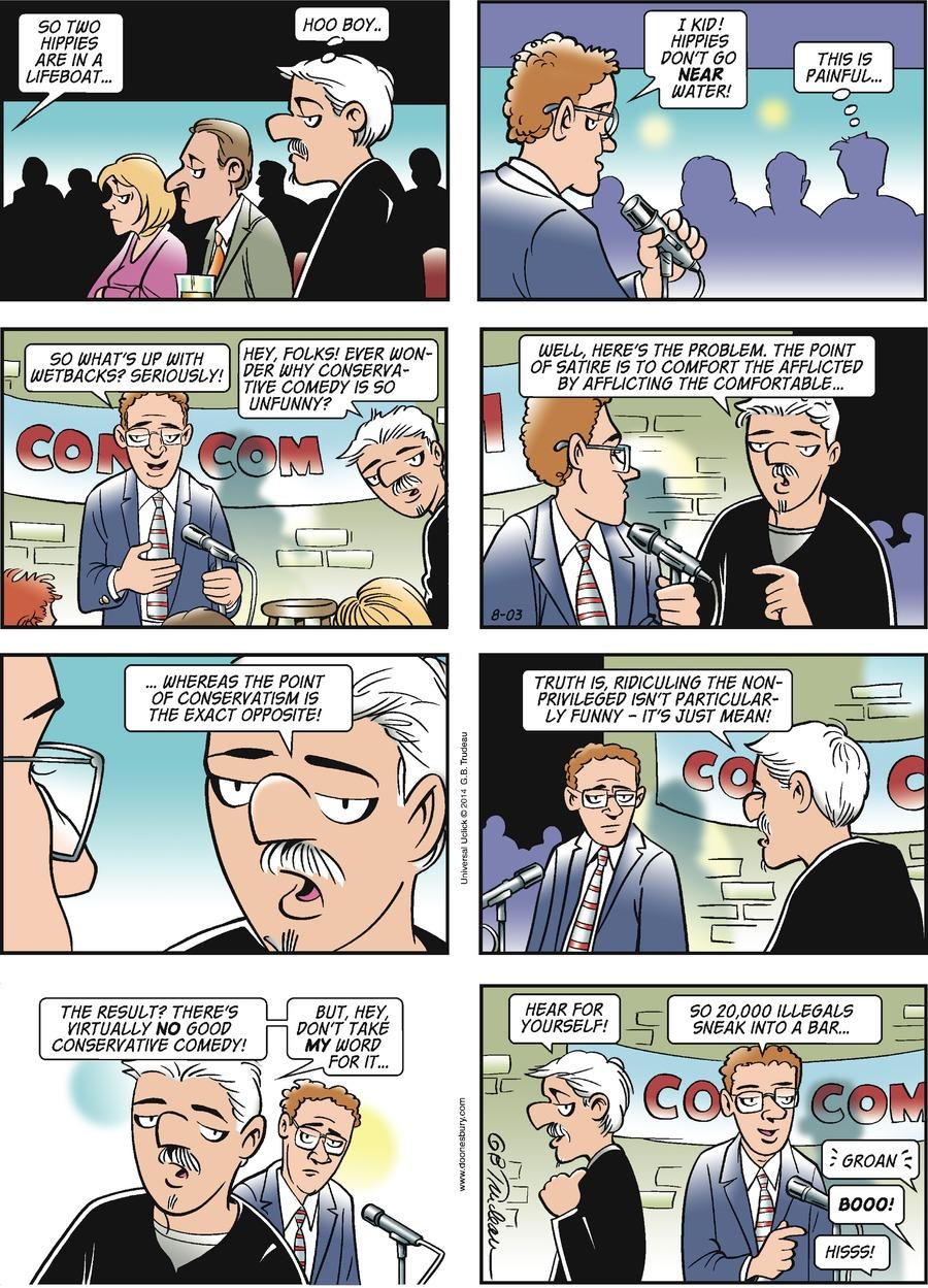 Doonesbury Comic Strip for August 03, 2014
