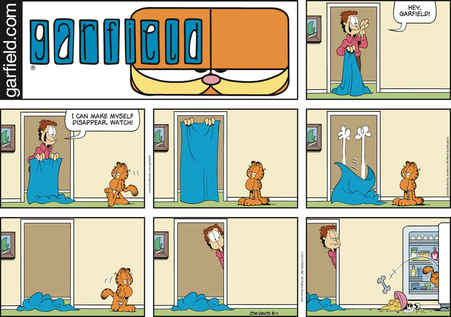 Garfield Comic Strip for August 11, 2019