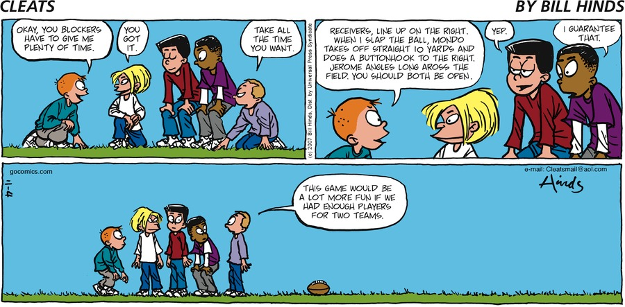 Cleats Comic Strip for November 04, 2007