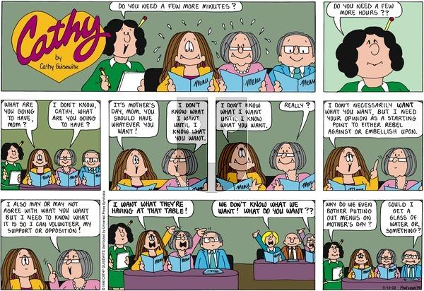 Cathy Classics on Sunday May 12, 2013 Comic Strip