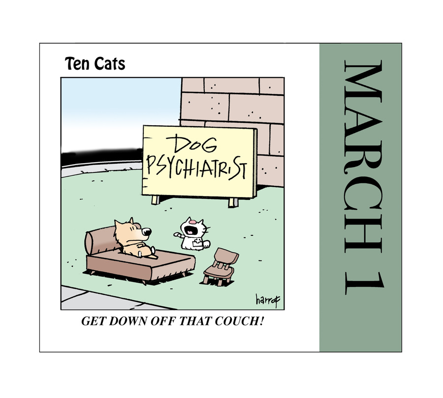 Ten Cats Comic Strip for March 01, 2021