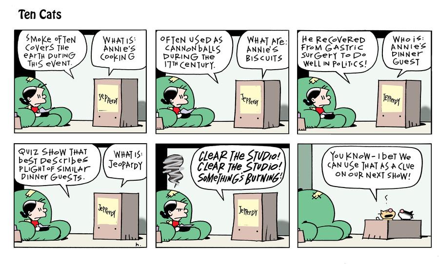 Ten Cats Comic Strip for September 19, 2021