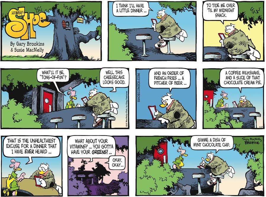 Shoe Comic Strip for April 19, 2015