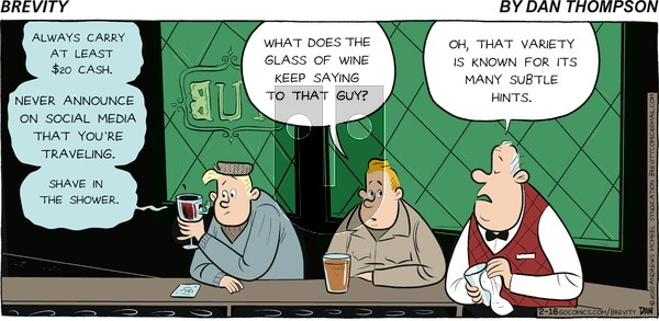 Brevity on Sunday February 16, 2020 Comic Strip