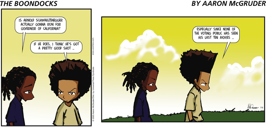 The Boondocks Comic Strip for July 06, 2003