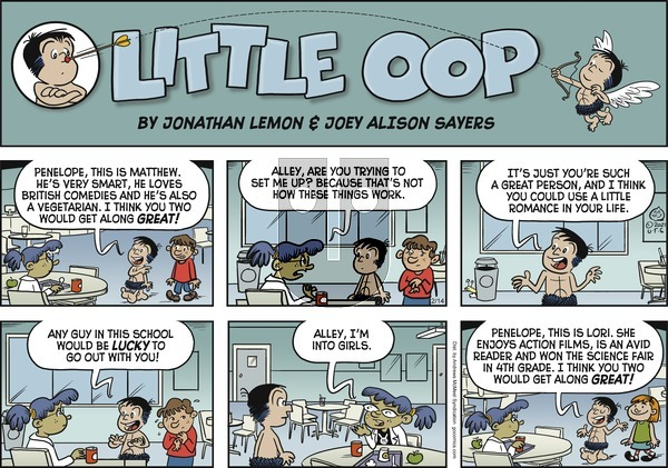 Alley Oop - Sunday February 14, 2021 Comic Strip