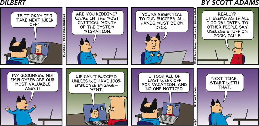 Taking Time Off - Dilbert by Scott Adams