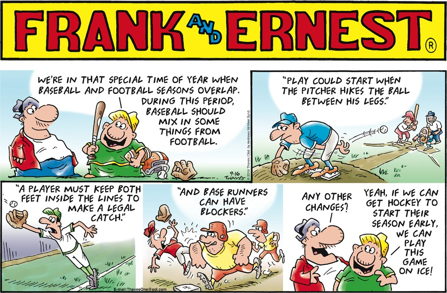 Frank and Ernest Comic Strip for September 16, 2018