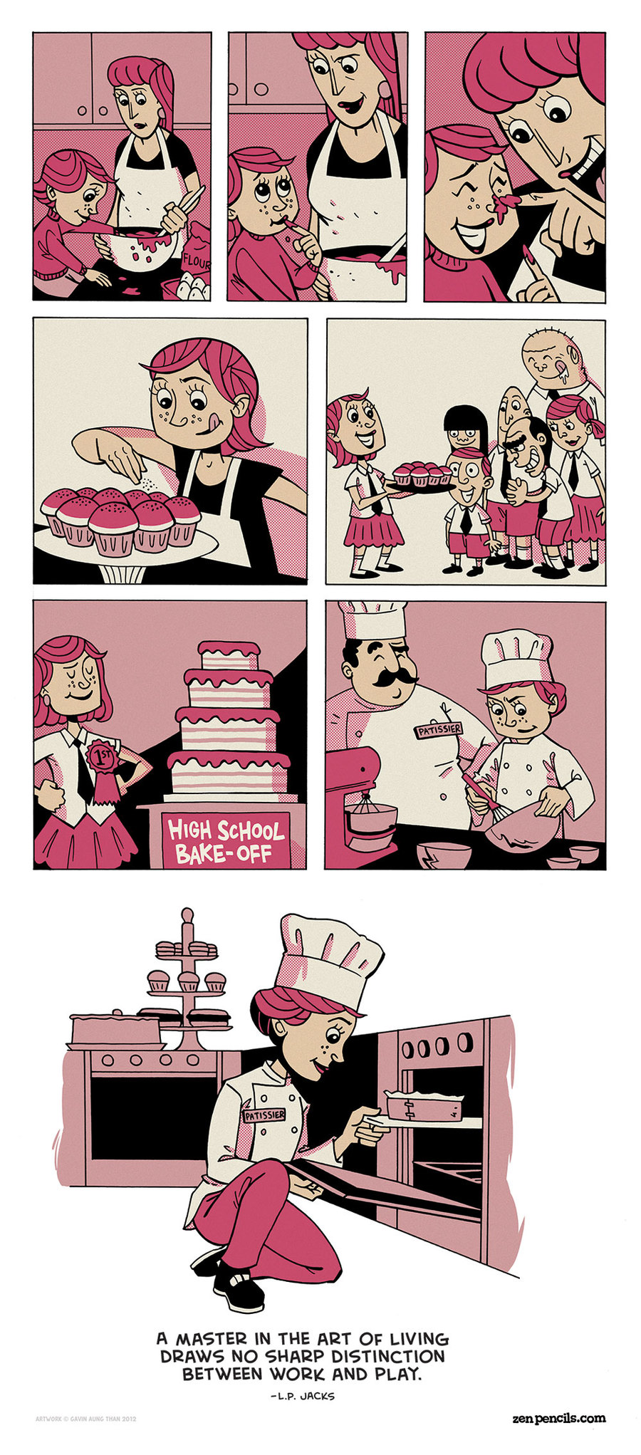 Zen Pencils for Dec 6, 2013 Comic Strip
