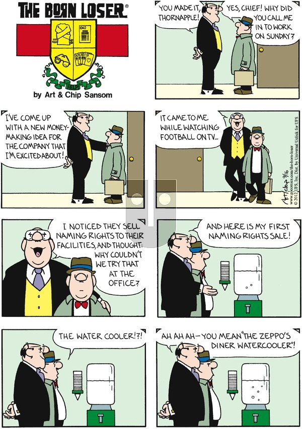 The Born Loser on September 16, 2012 Comic Strip