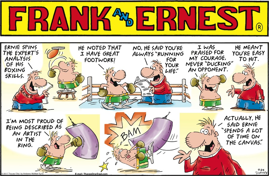 Frank and Ernest Comic Strip for September 24, 2017
