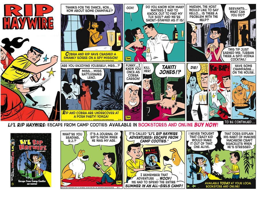 Rip Haywire Comic Strip for September 04, 2016